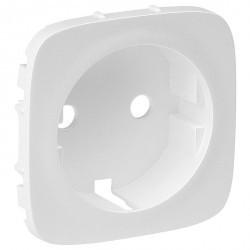 Накладка на розетку Legrand VALENA ALLURE, с заземлением, белый, 755205