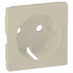 Накладка на розетку Legrand VALENA ALLURE, с заземлением, алюминий, 755251