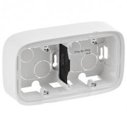 Valena Allure Коробка для накладного монтажа 2-ная, бел.