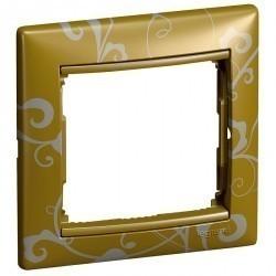 Рамка 1 пост Legrand VALENA CLASSIC, золото барокко, 770020
