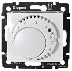 Термостат для теплого пола Legrand VALENA CLASSIC, с датчиком, белый, 770091