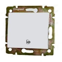 Выключатель 1-клавишный кнопочный Legrand VALENA CLASSIC, скрытый монтаж, белый, 770099