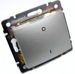 Выключатель 1-клавишный Legrand VALENA CLASSIC, скрытый монтаж, алюминий, 770103