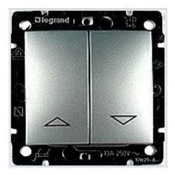 Выключатель для жалюзи 2-клавишный Legrand VALENA CLASSIC, алюминий, 770104
