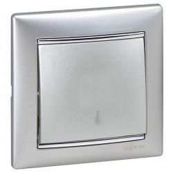 Выключатель 1-клавишный кнопочный Legrand VALENA CLASSIC, скрытый монтаж, алюминий, 770112