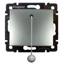 Выключатель 1-клавишный Legrand VALENA CLASSIC, скрытый монтаж, алюминий, 770119