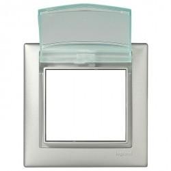 Рамка 1 пост Legrand VALENA CLASSIC, горизонтальная, алюминий, 770150