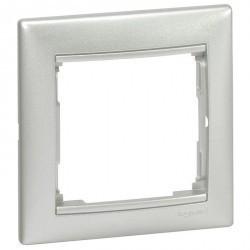 Рамка 1 пост Legrand VALENA CLASSIC, горизонтальная, алюминий, 770151
