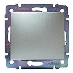 Переключатель 1-клавишный Legrand VALENA CLASSIC, скрытый монтаж, алюминий, 770205