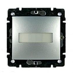 Выключатель 1-клавишный кнопочный Legrand VALENA CLASSIC, скрытый монтаж, алюминий, 770217