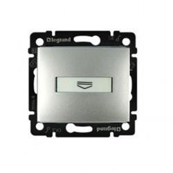 Карточный выключатель Legrand VALENA CLASSIC, механический, алюминий, 770234