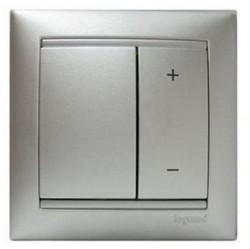 Светорегулятор клавишный Legrand VALENA CLASSIC, 400 Вт, алюминий, 770262