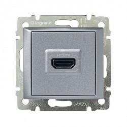 Розетка HDMI Legrand VALENA, алюминий, 770285