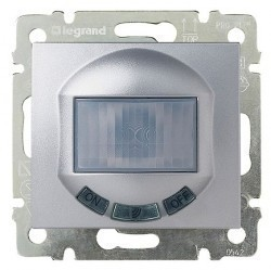 Датчик движения Legrand VALENA CLASSIC, 180°, до 1000 Вт, алюминий, 770289