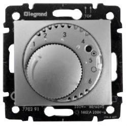 Термостат для теплого пола Legrand VALENA CLASSIC, с датчиком, алюминий, 770291