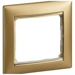 Рамка 1 пост Legrand VALENA CLASSIC, золото матовое, 770301