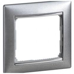 Рамка 1 пост Legrand VALENA CLASSIC, алюминий, 770331