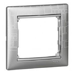 Рамка 1 пост Legrand VALENA CLASSIC, алюминий, 770341
