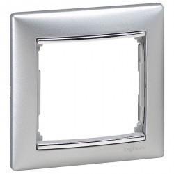 Рамка 1 пост Legrand VALENA CLASSIC, алюминий, 770351