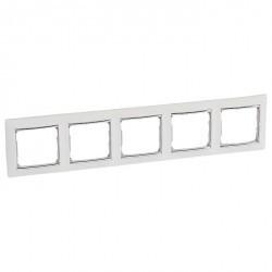 Рамка 5 постов Legrand VALENA CLASSIC, белый, 770495