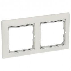 Рамка 2 поста Legrand VALENA CLASSIC, вертикальная, белый, 770496