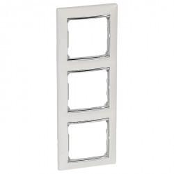 Рамка 3 поста Legrand VALENA CLASSIC, вертикальная, белый, 770497
