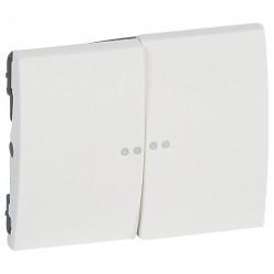 Клавиша двойная с линзами Legrand GALEA LIFE, белый, 771079