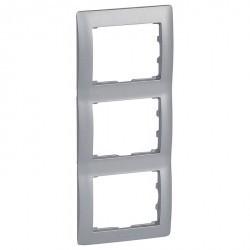 Рамка 3 поста Legrand GALEA LIFE, вертикальная, алюминий, 771307
