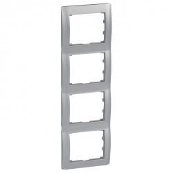 Рамка 4 поста Legrand GALEA LIFE, вертикальная, алюминий, 771308