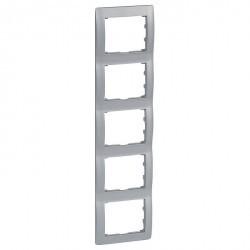 Рамка 5 постов Legrand GALEA LIFE, вертикальная, алюминий, 771309