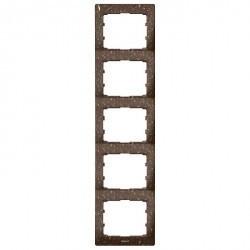 Рамка 5 постов Legrand GALEA LIFE, вертикальная, corian какао, 771709