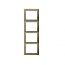 Рамка 4 поста Legrand GALEA LIFE, вертикальная, corian macadam, 771758