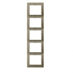 Рамка 5 постов Legrand GALEA LIFE, вертикальная, corian macadam, 771759