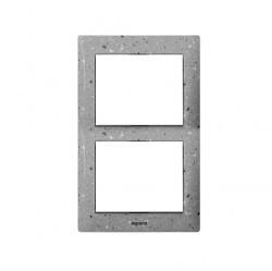 Рамка 2 поста Legrand GALEA LIFE, вертикальная, corian gray fieldstone, 771766