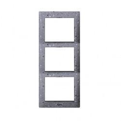 Рамка 3 поста Legrand GALEA LIFE, вертикальная, corian flint, 771777