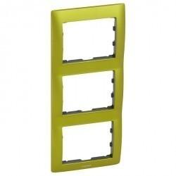 Рамка 3 поста Legrand GALEA LIFE, вертикальная, magic green, 771927