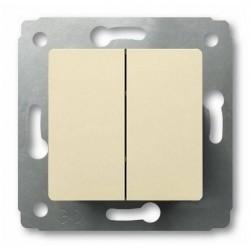 Выключатель 2-клавишный Legrand CARIVA, скрытый монтаж, слоновая кость, 773758