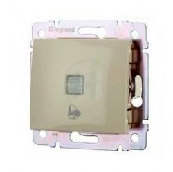 Выключатель 1-клавишный кнопочный Legrand VALENA CLASSIC, с подсветкой, скрытый монтаж, слоновая кость, 774115