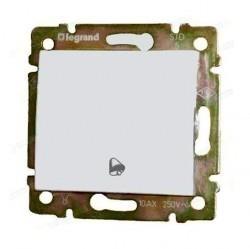 Выключатель 1-клавишный кнопочный Legrand VALENA CLASSIC, скрытый монтаж, слоновая кость, 774116