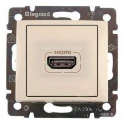 Розетка HDMI Legrand VALENA CLASSIC, бежевый, 774185