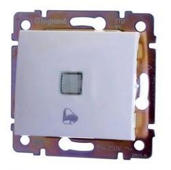 Выключатель 1-клавишный кнопочный Legrand VALENA CLASSIC, скрытый монтаж, белый, 774215