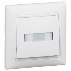 Выключатель 1-клавишный кнопочный Legrand VALENA CLASSIC, скрытый монтаж, белый, 774217