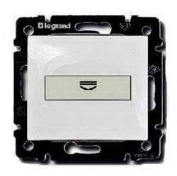 Карточный выключатель Legrand VALENA CLASSIC, механический, белый, 774234