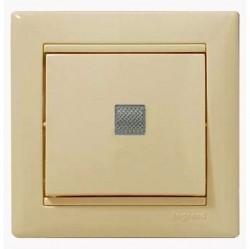 Выключатель 1-клавишный Legrand VALENA CLASSIC, с подсветкой, скрытый монтаж, слоновая кость, 774310