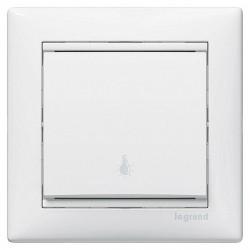 Выключатель 1-клавишный кнопочный Legrand VALENA CLASSIC, скрытый монтаж, слоновая кость, 774312