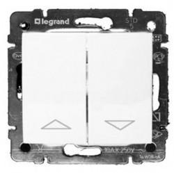 Переключатель для жалюзи 2-клавишный кнопочный Legrand VALENA CLASSIC, слоновая кость, 774314