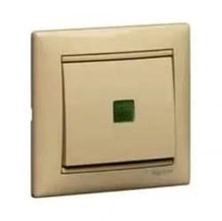 Переключатель 1-клавишный Legrand VALENA CLASSIC, с подсветкой, скрытый монтаж, слоновая кость, 774326