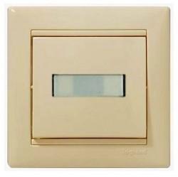 Выключатель 1-клавишный Legrand VALENA CLASSIC, с подсветкой, скрытый монтаж, слоновая кость, 774349