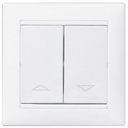 Выключатель для жалюзи Legrand VALENA CLASSIC, белый, 774404