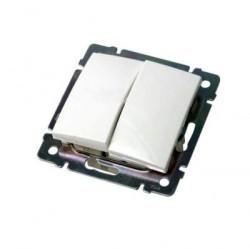 Выключатель 2-клавишный Legrand VALENA CLASSIC, скрытый монтаж, белый, 774405